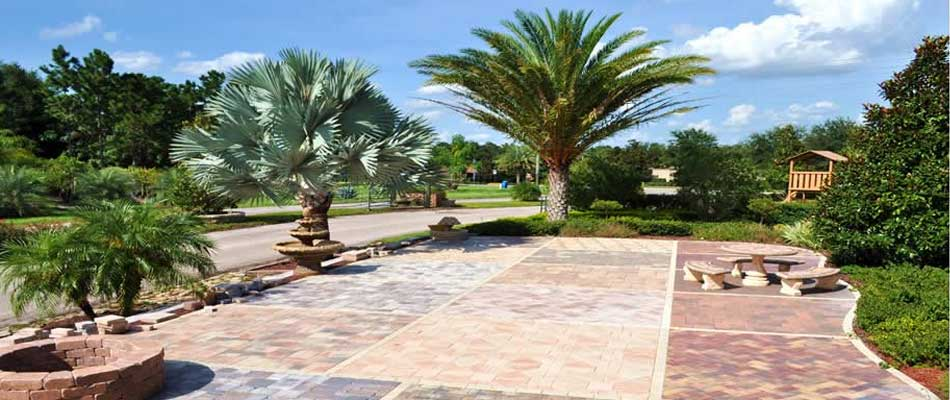 Our hardscape materials available for purchase on display at our nursery located near Orlando, FL.